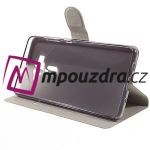 Horse PU kožené puzdro pre Asus Zenfone 3 Deluxe - biele - 4