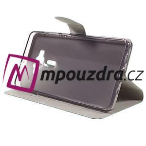 Horse PU kožené puzdro pre Asus Zenfone 3 Deluxe - modré - 4