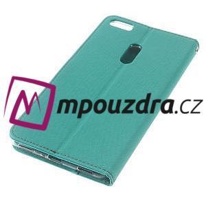 Diary peňaženkové pouzdro na mobil Asus Zenfone 3 Ultra - cyan - 4