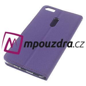 Diary peňaženkové puzdro pre mobil Asus Zenfone 3 Ultra - fialové - 4