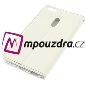 Diary peňaženkové puzdro pre mobil Asus Zenfone 3 Ultra - biele - 4