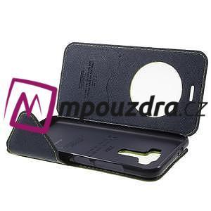 Diary puzdro s okýnkem na mobil Asus Zenfone 3 ZE520KL - zelené - 4