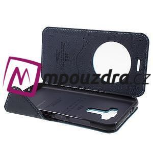 Diary puzdro s okienkom pre mobil Asus Zenfone 3 ZE520KL - svetlomodré - 4