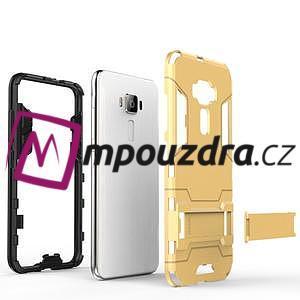 Odolný obal pre mobil Asus Zenfone 3 ZE520KL - strieborný - 4