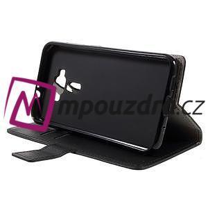 Leathy peňaženkové puzdro na Asus Zenfone 3 ZE520KL - čierne - 4