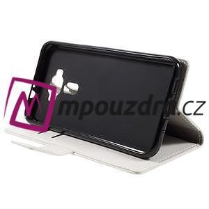 Leathy peňaženkové puzdro na Asus Zenfone 3 ZE520KL - biele - 4