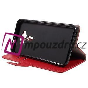 Leathy peňaženkové puzdro pre Asus Zenfone 3 ZE520KL - červené - 4