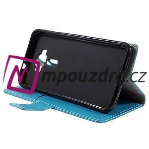 Leathy peňaženkové puzdro pre Asus Zenfone 3 ZE520KL - svetlomodré - 4