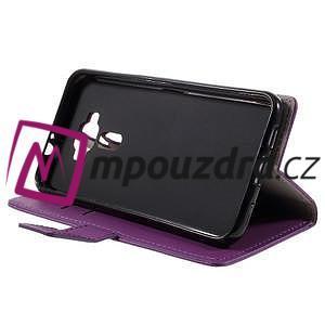 Leathy peňaženkové puzdro pre Asus Zenfone 3 ZE520KL - fialové - 4