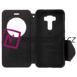 Diary puzdro s okýnkem na mobil Asus Zenfone 3 ZE520KL - červené - 4