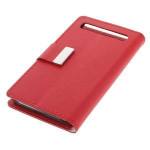 Peňaženkové puzdro pre mobil BlackBerry Classic - červené - 4