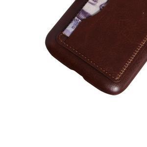 PU kožený kryt se stojánkem na BlackBerry Classic - hnědé - 4