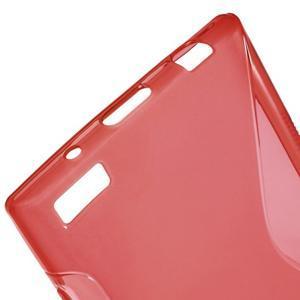 S-line gelový obal na mobil BlackBerry Leap - červený - 4