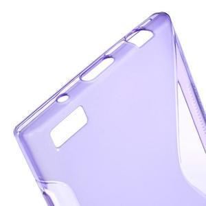 S-line gélový obal pre mobil BlackBerry Leap - fialový - 4