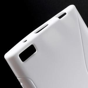 S-line gélový obal pre mobil BlackBerry Leap - biely - 4