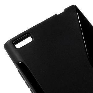 S-line gelový obal na mobil BlackBerry Leap - černý - 4