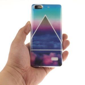 Gélový obal pre mobil Honor 4C - triangl - 4