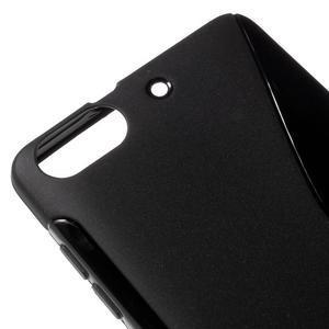 S-line gélový obal pre mobil Honor 4C - čierny - 4