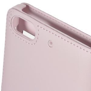 PU kožené pouzdro s okýnky na Honor 4C - růžové - 4