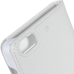 PU kožené puzdro s okienky pre Honor 4C - bielé - 4