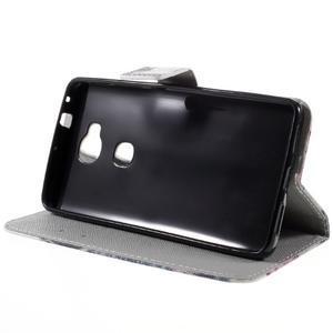 PU kožené puzdro pre mobil Honor 5X - cool mačka - 4