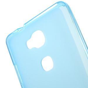 Matný gélový obal pre mobil Honor 5X - modrý - 4