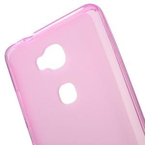Matný gélový obal pre mobil Honor 5X - ružový - 4