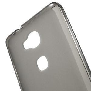 Matný gélový obal pre mobil Honor 5X - šedý - 4