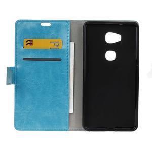 Horse peněženkové koženkové pouzdro na Huawei Honor 5X - modré - 4