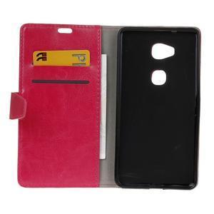 Horse peněženkové koženkové pouzdro na Huawei Honor 5X - rose - 4