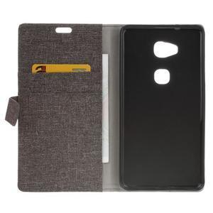 Textilné/koženkové puzdro pre Honor 5X - šedé - 4