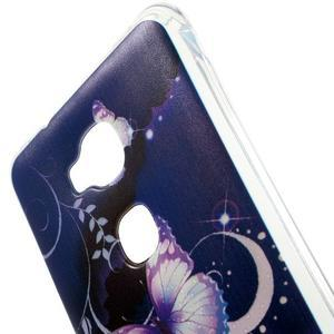 Drop gelový obal na Huawei Honor 5X - fialoví motýlci - 4