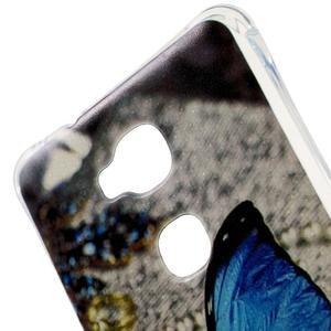Drop gelový obal na Huawei Honor 5X - modrý motýl - 4