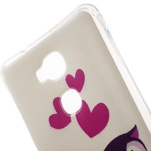 Drop gélový obal pre Huawei Honor 5X - soví rodinka - 4