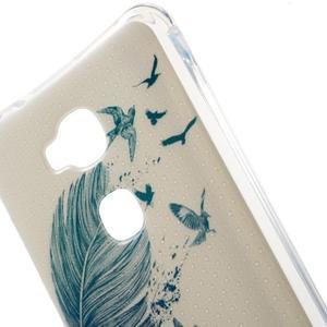Drop gelový obal na Huawei Honor 5X - modré peříčko - 4