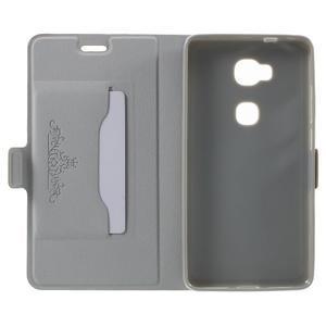 Peněženkové PU kožené pouzdro na mobil Honor 5X - champagne - 4