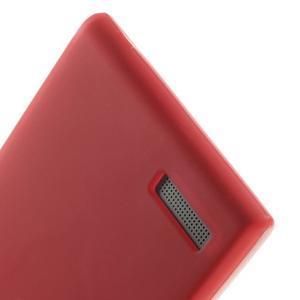 Matné gélové puzdro na Huawei Ascned G6 - červené - 4