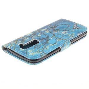Peňaženkové puzdro pre mobil LG K10 - kvitnúce strom - 4