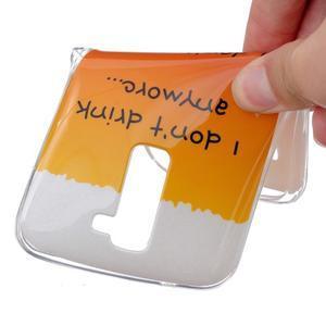 Fony gelový obal na mobil LG K10 - drink - 4