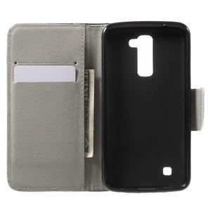 Wall peňaženkové puzdro pre LG K10 - medvedík - 4