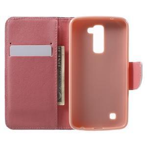 Wall peňaženkové puzdro pre LG K10 - malej sovy - 4
