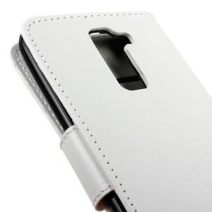 Horse PU kožené puzdro pre LG K10 - biele - 4