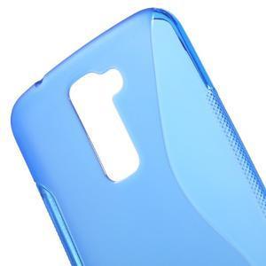 S-line gélový obal pre mobil LG K10 - modrý - 4