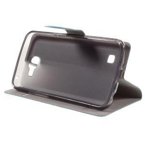 Horse PU kožené pouzdro na mobil LG K4 - modré - 4