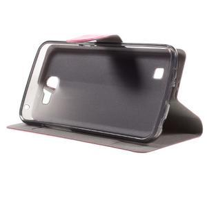 Horse PU kožené pouzdro na mobil LG K4 - rose - 4