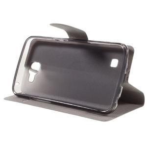 Horse PU kožené puzdro pre mobil LG K4 - biele - 4