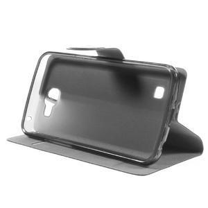 Horse PU kožené pouzdro na mobil LG K4 - černé - 4