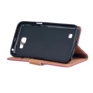 Style peňaženkové puzdro pre LG K4 - kvetinová koláž - 4