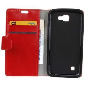 Leat peňaženkové puzdro pre LG K4 - červené - 4