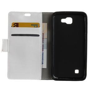 Leat peněženkové pouzdro na LG K4 - bílé - 4